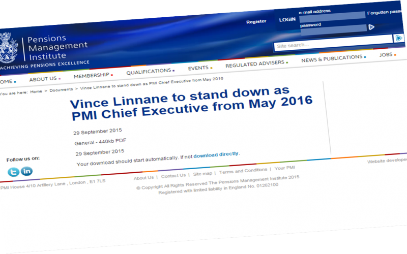 Vince Linnane to stand down as PMI Chief Executive from May 2016